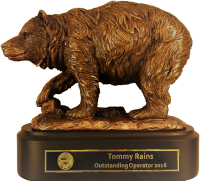 2016 National Wildlife Control Operators Association Outstanding Operator in North America Bronze Bear award